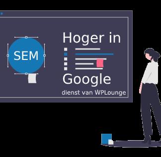 SEO dienst WordPress Lounge - Hoger in Google